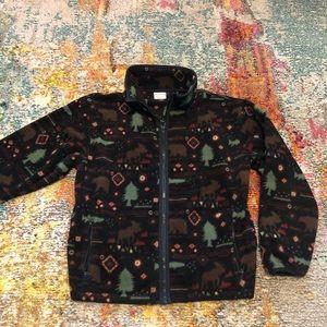 Vintage 90s LL bean full zip outdoors print fleece